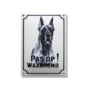 Waakhondenborden #WH03 Deense Dog 20x30cm