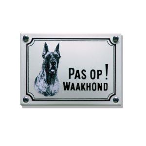 Waakhondenborden #WHK03 Deense Dog 10x14cm