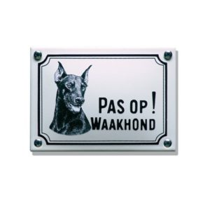 Waakhondenborden #WHK04 Dobermann 10x14cm