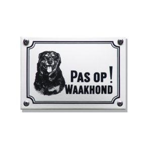 Waakhondenborden #WHK09 Rottweiler 10x14cm