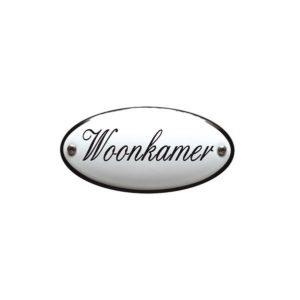 Emaille Bordje #28 Woonkamer -Deurbordje 5x10cm
