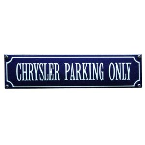 SS-16 Chrysler Parking Only