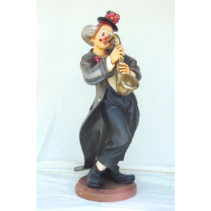0369 Clown with Saxophone Life Size