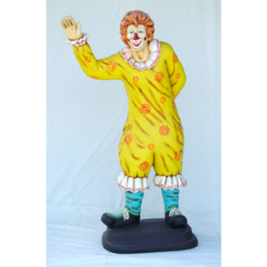 0370 Clown with Waving Hand Life Size