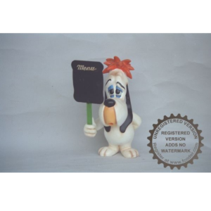 CW057 Droopy with Menubord Sign