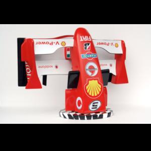 2486 Car Racing F1 Cone on Race Flag - Formule 1
