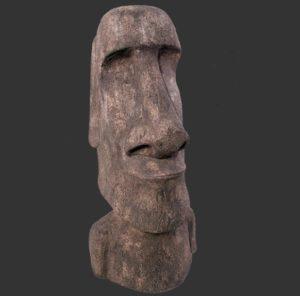 H-090076 Easter Island Moai Dark - Paaseiland