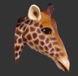 H-170001 Giraffe Head Wall Decor - Giraf