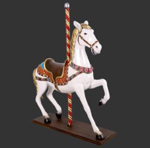 H-130045 Carousel Horse - Paard