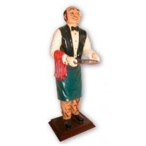HFOW6 Waiter Old Man Life Size - Ober