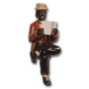 HFSIN Man Sitting with Newspaper - Jazz