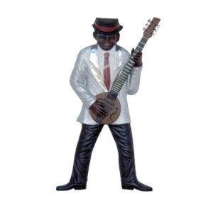 2893 Jazz Band Guitar Player Wall Decor - Jazz