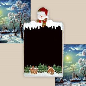 CCSMC Sneeuwpop Krijtbord - Stoepbord