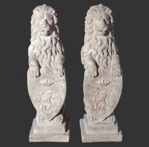 H-020309 Heraldic Lions - Leeuw