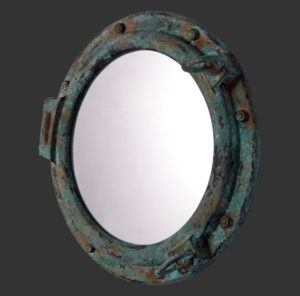 "H-90063 Porthole Mirror 24"" - Patrijspoort"