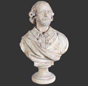 H-090027 William Shakespeare - Buste