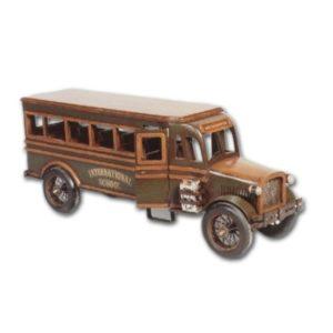 RTSCB Road Car School Bus Wood - Schaalmodel
