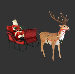 H-120025 Santa for Sleigh Jumbo - Kerstman