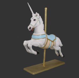 H-170157 Christmas Carousel Horse Unicom - Paard