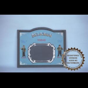 CW064 Laurel & Hardy Pubsign - de Dikke & de Dunne