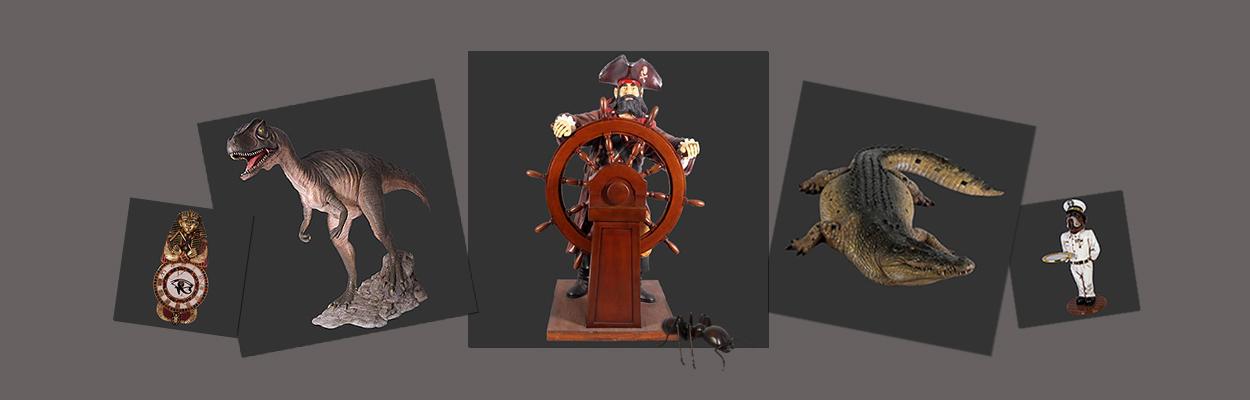 horecabeelden.nl dierenbeelden polyester beeld decoratie beeld piraat beeld