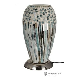 700800 - Mozaïek Glass Lamp green/silver 27 cm