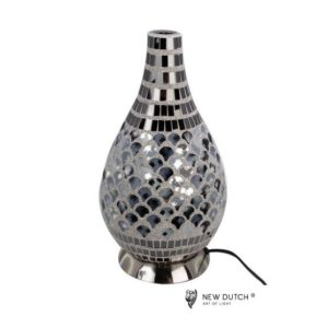 700846 - Mozaiek Glass Lamp 18.5x18.5x34.5cm