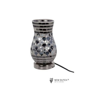 700848 - Mozaiek Glass Lamp 13.5x13.5x22cm
