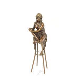 DSBJ-11 SCULPTURE LADY ON BARCHAIR - Erotica
