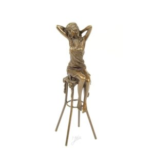 DSBJ-9 SCULPTURE LADY ON BARCHAIR - Erotica