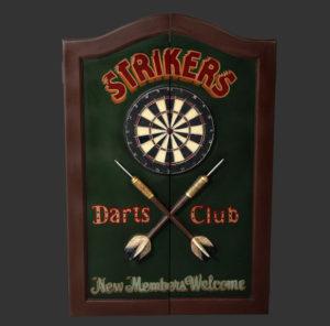 FODCS Darten Cabinet Strikers Theme - Dartkast