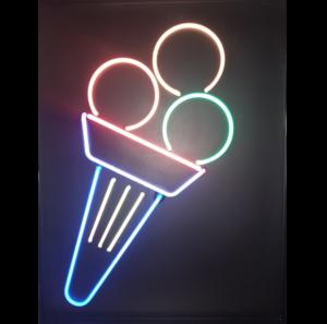 A-106-2 Neon Reclame Ice cream – Schepijs