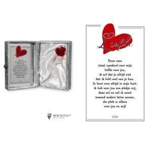 "2240 - Rosebox ""Liefde"" - 16 x 23 cm"