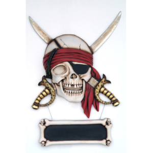 EY Pirate Skull Sword Wall Decor - Piraat