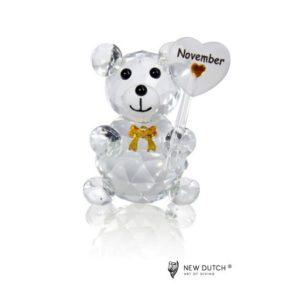 200248 - Crystal Birthstone Bear November - 5 cm