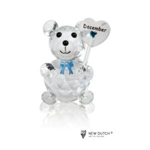 200249 - Crystal Birthstone Bear December - 5 cm