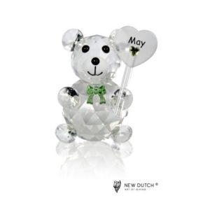 200242 - Crystal Birthstone Bear May - 5 cm