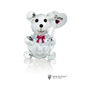 200243 - Crystal Birthstone Bear June - 5 cm