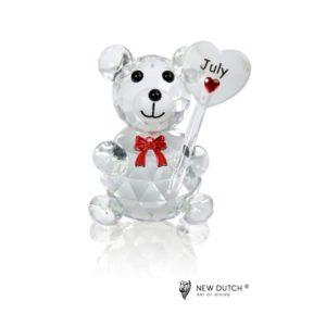 200244 - Crystal Birthstone Bear July - 5 cm