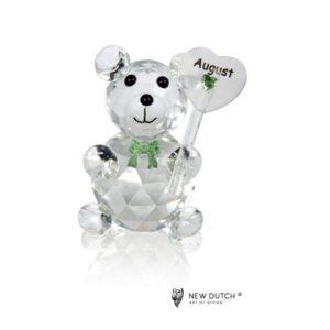 200245 - Crystal Birthstone Bear August - 5 cm