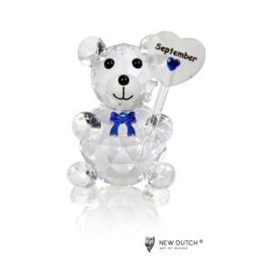 200246 - Crystal Birthstone Bear September - 5 cm
