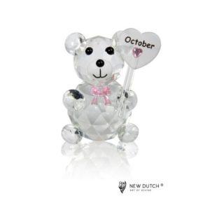 200247 - Crystal Birthstone Bear October - 5 cm