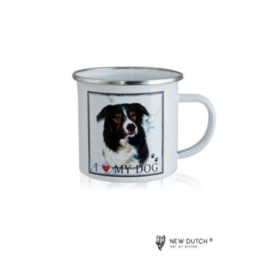 1022 - Metal Mug - Border Collie