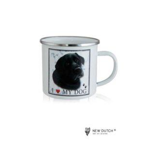 1023 - Metal Mug - Black Labrador