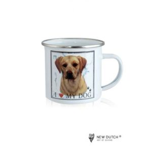1025 - Metal Mug - Labrador Blond