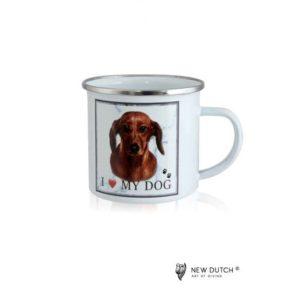 1029 - Metal Mug - Dachshund