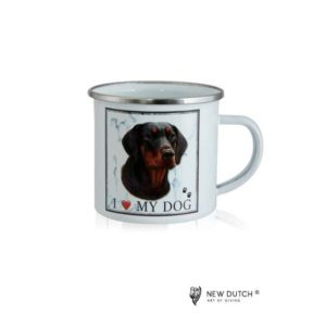 1031 - Metal Mug - Dobermann