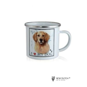 1032 - Metal Mug - Golden Retriever
