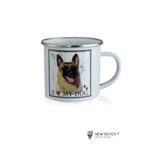 1034 - Metal Mug - Belgian Shepherd