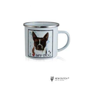 1043 - Metal Mug - French Bulldog